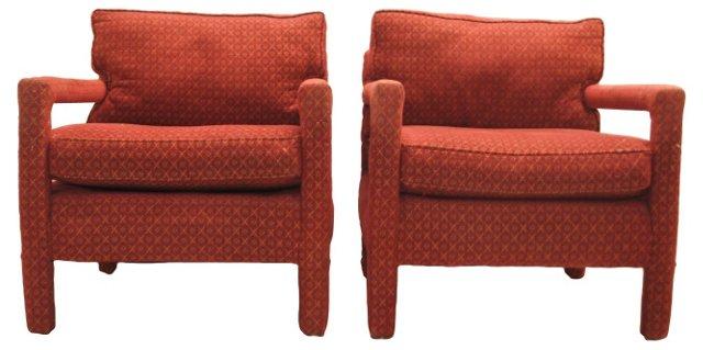 Baughmann-Style Parsons Chairs, Pair