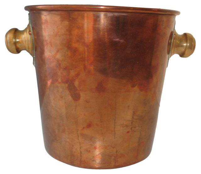 Chilean Copper & Brass Ice Bucket
