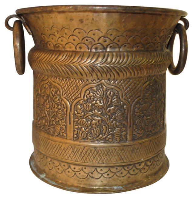 Handmade Moroccan Brass Fireplace Bucket