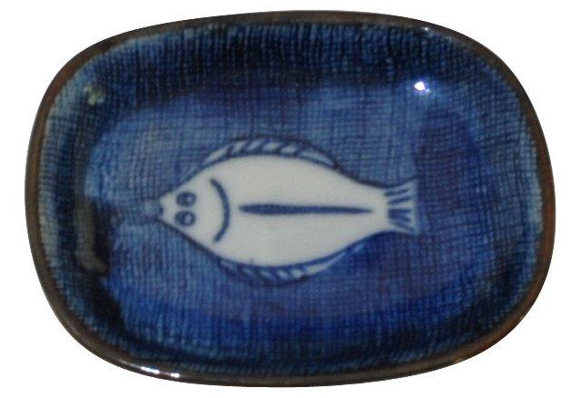 Navy Fish Catchall
