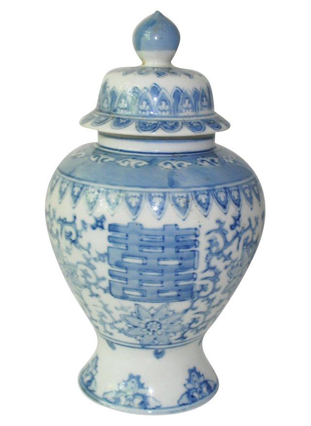 Blue & White Chinoiserie Ginger   Jar