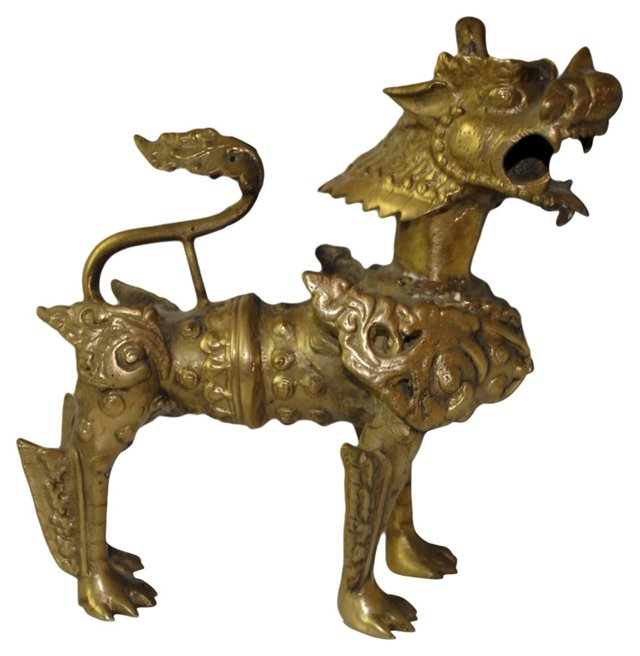 Antique Bronze Foo Dog