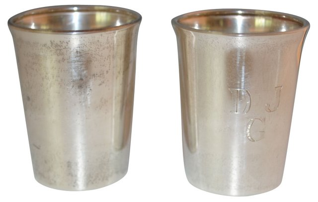 Sterling Silver Cups, Pair