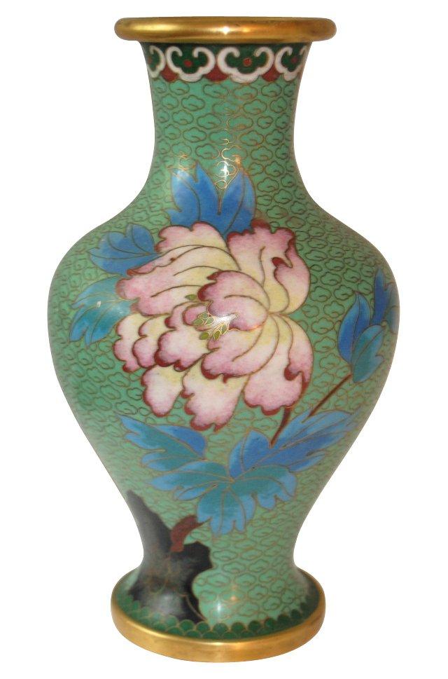 Green Cloisonne Vase