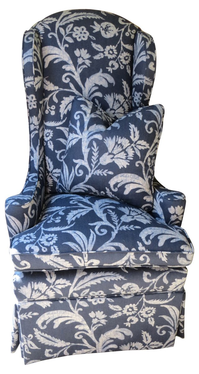 Upholstered  Wingback w/ Pillow