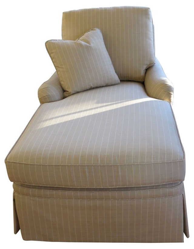 Windowpane Chaise Longue w/ Pillow