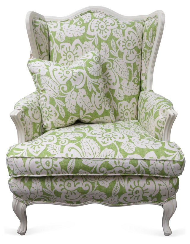 French-Style Chair w/ Accent Pillow