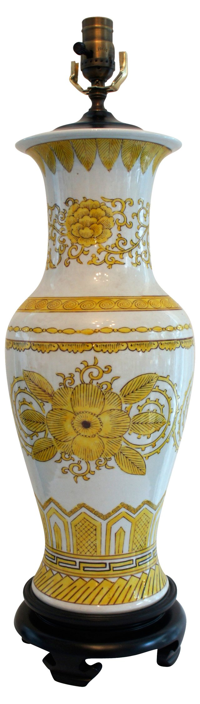 Asian Yellow Flower Lamp
