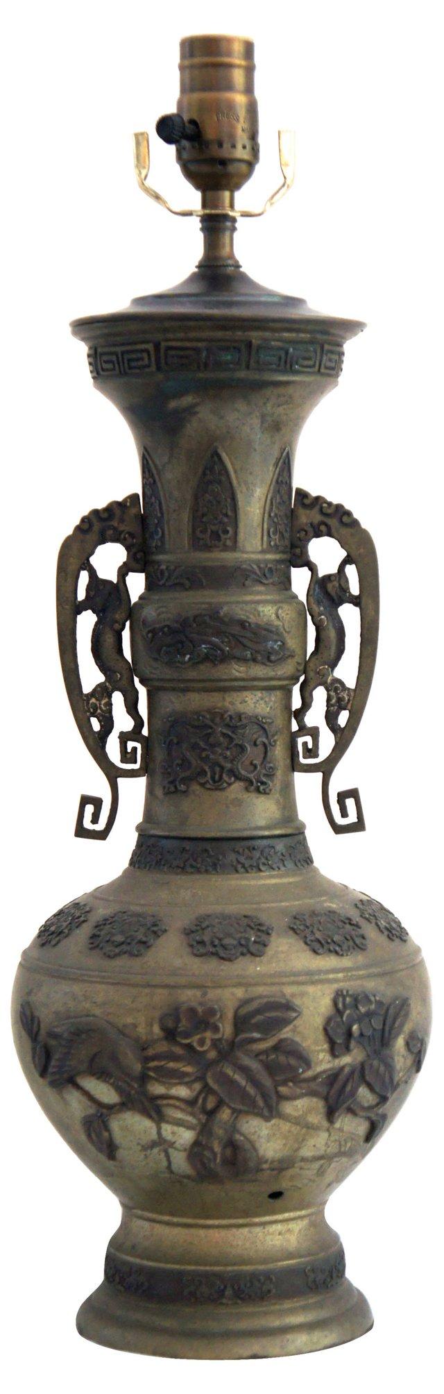 Asian Metal Lamp