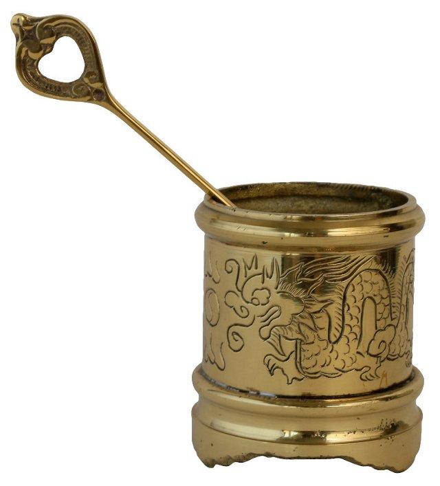Brass Salt Bowl & Spoon