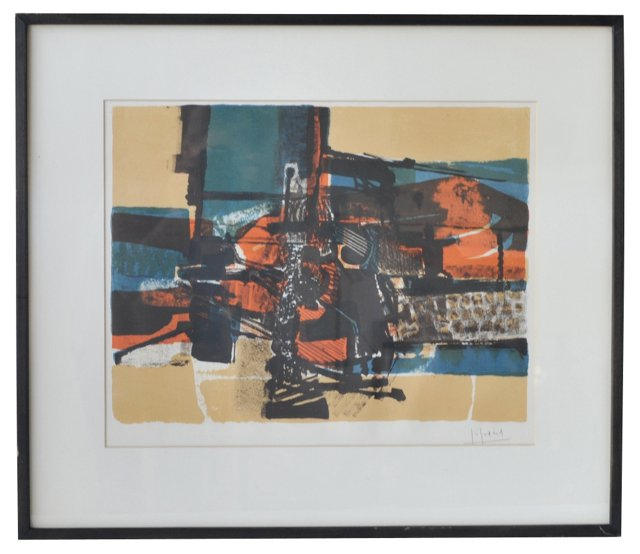 Abstract Lithograph by Gabriel Godard
