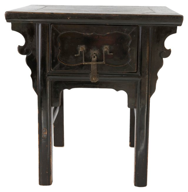 19th-C. Chinese Elm Black Shanxi Table