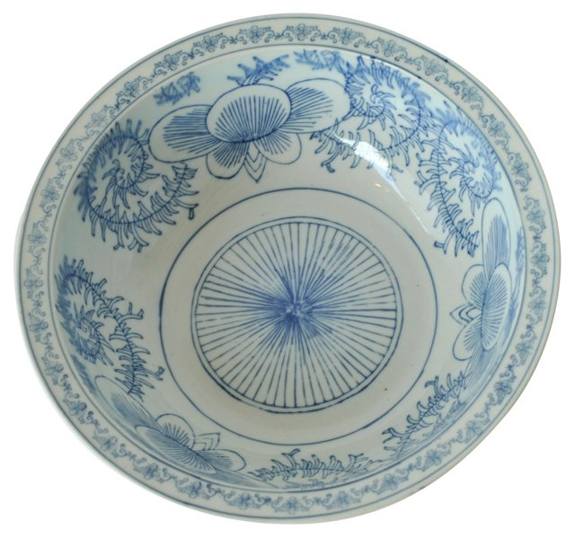Antique Chinese Hand-Painted Bowl