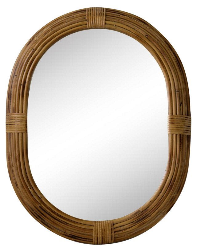 Chinese Woven Bamboo Mirror