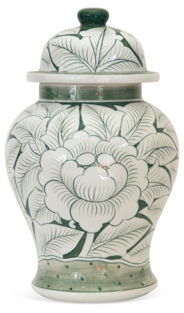 Chinoiserie Ginger Jar w/ Lid