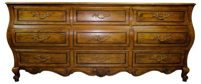 9-Drawer Bombé Dresser by Baker