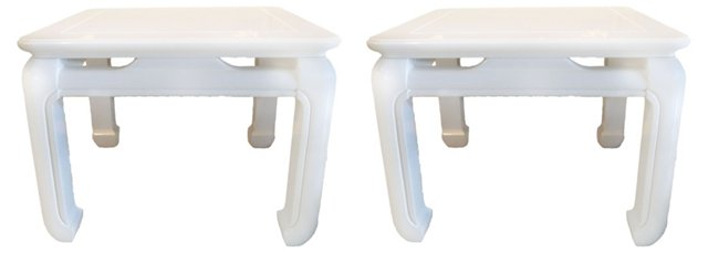 Midcentury Ming Side Tables, Pair