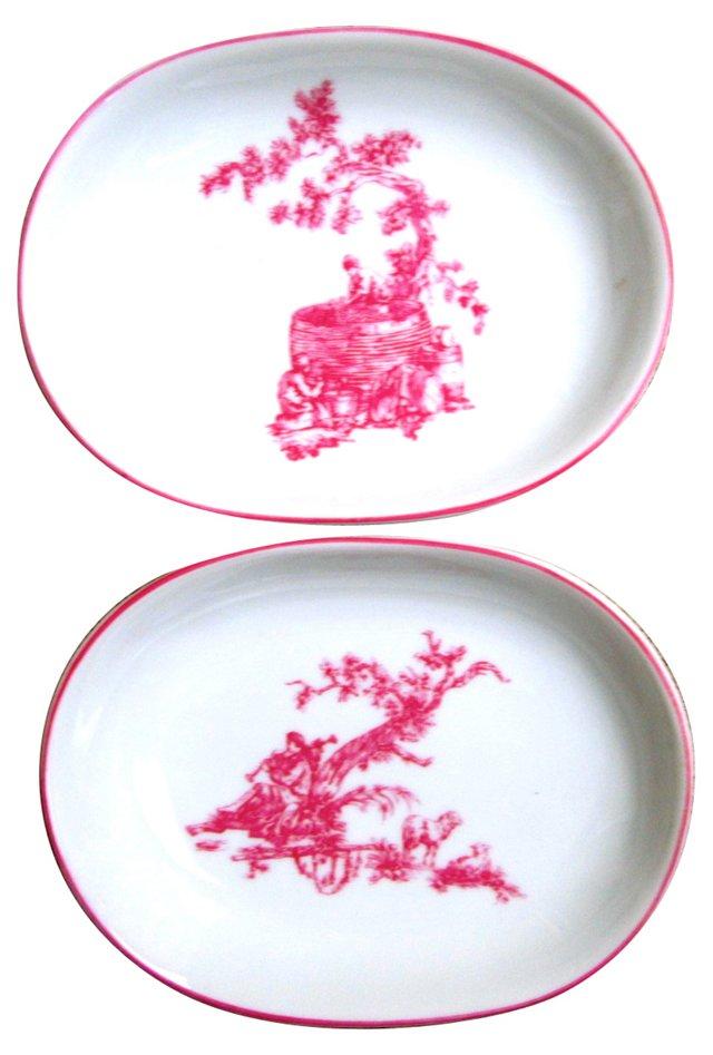 Limoges Nut Plates,  Pair