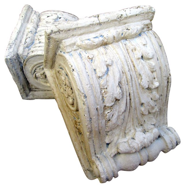 Architectural Acanthus Corbels, Pair