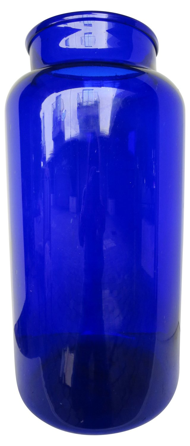 French Cobalt Canning Jar