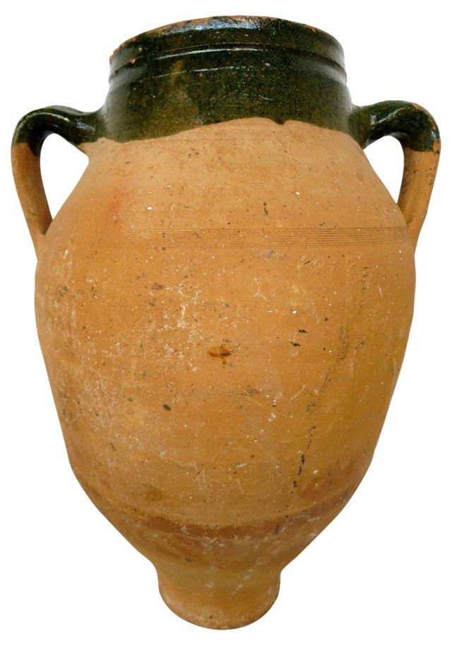 Large Italian Terracotta Olive Jar