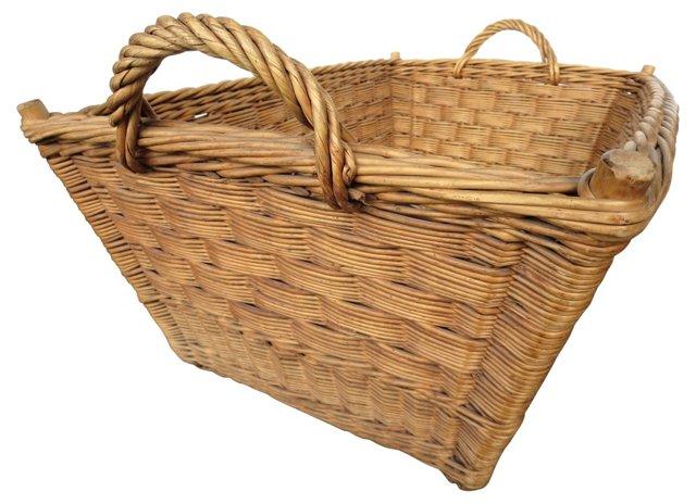 French Doweled Laundry Basket