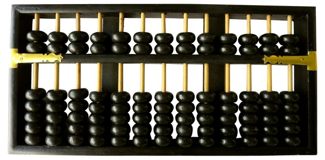 Black Chinese Abacus
