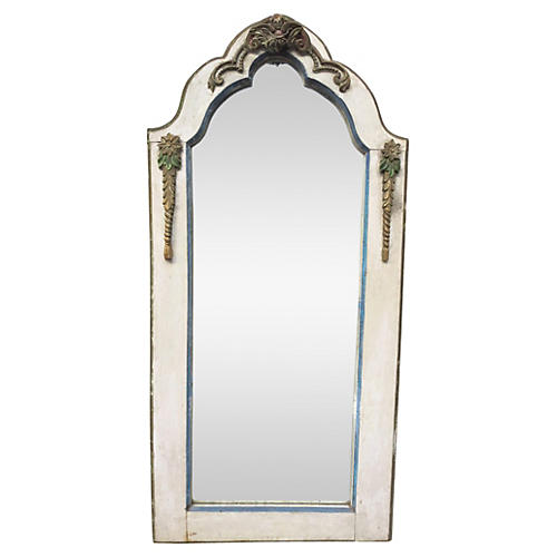 19th-C. French Paint & Parcel Mirror