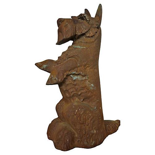 English Iron Terrier Doorstop