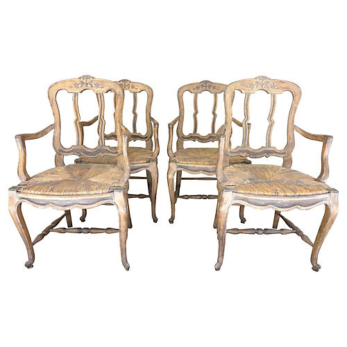 19th-C. Swedish Dining Chairs, S/4