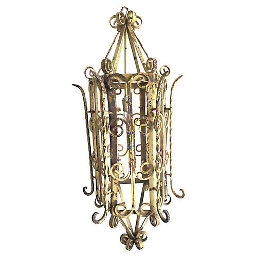 19th-C. Monumental French Iron Lantern