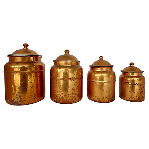 French Copper Canisters, S/4