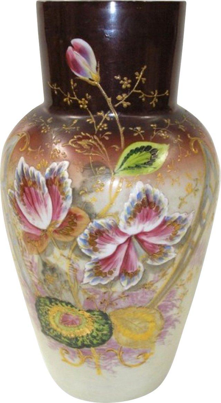 German Opalescent Glass Vase