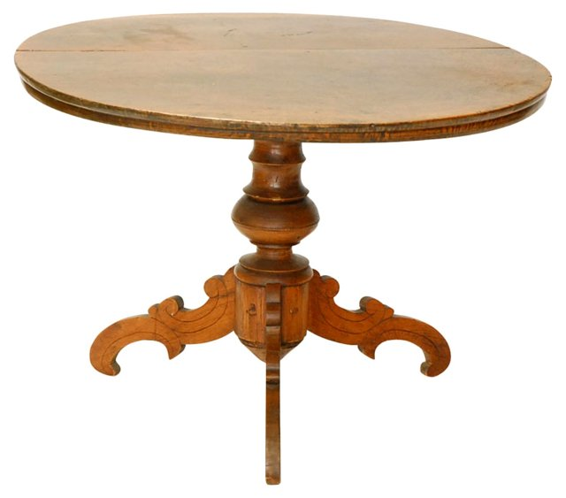 Antique Round Tuscan Table
