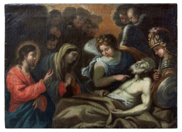 Death of St. Peter Oil on Canvas