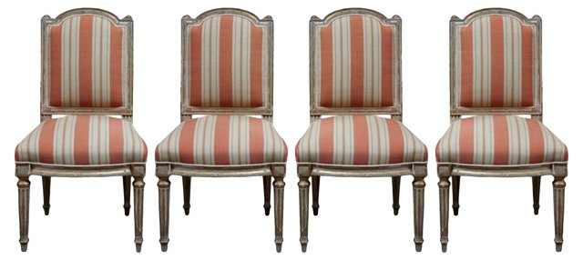 19th-C. Italian Dining Chairs, S/4