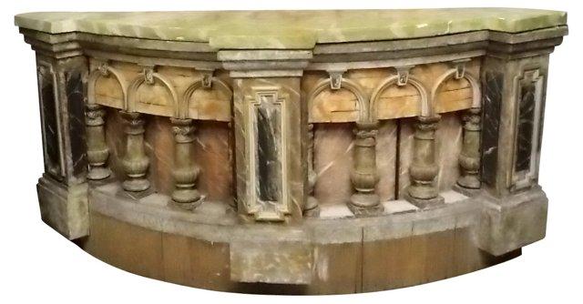 Antique Italian Wood Console