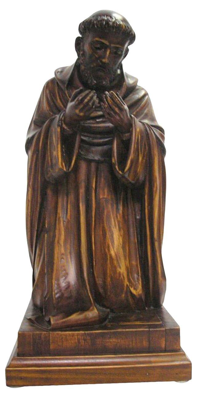 18th-C. Italian Sculpture of St. Francis