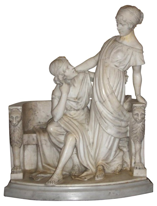 1870s Italian Alabaster Sculpture