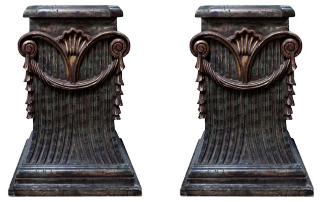 19th-C. Italian Pedestals, Pair