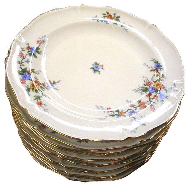 1900s Limoges Dinner Plates, S/12