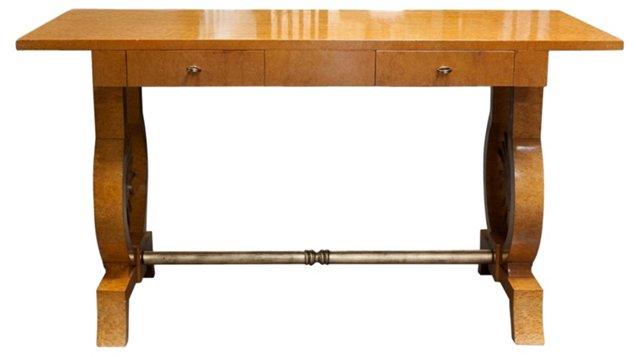 Early-20th-C. Birchwood Desk