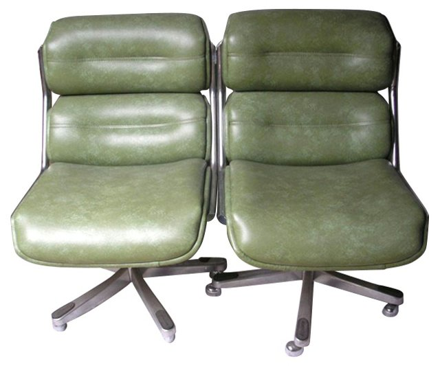 Midcentury Office Chairs, Pair