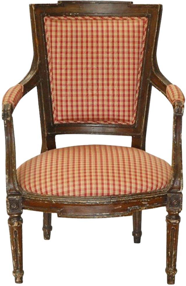 19th-C. Italian Neoclassical Armchair