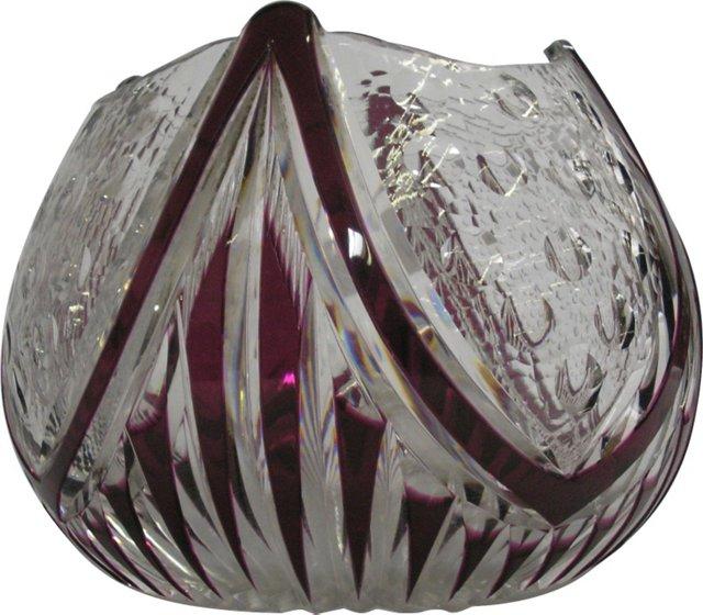 Bohemian Art Deco Crystal Bowl