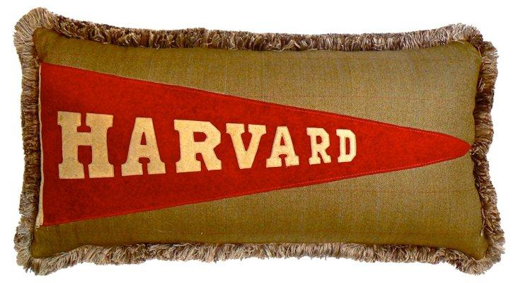 Harvard Pennant Pillow