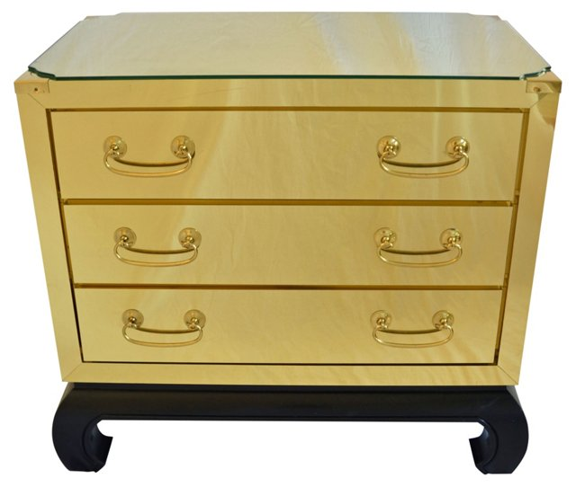 Brass 3-Drawer Chest