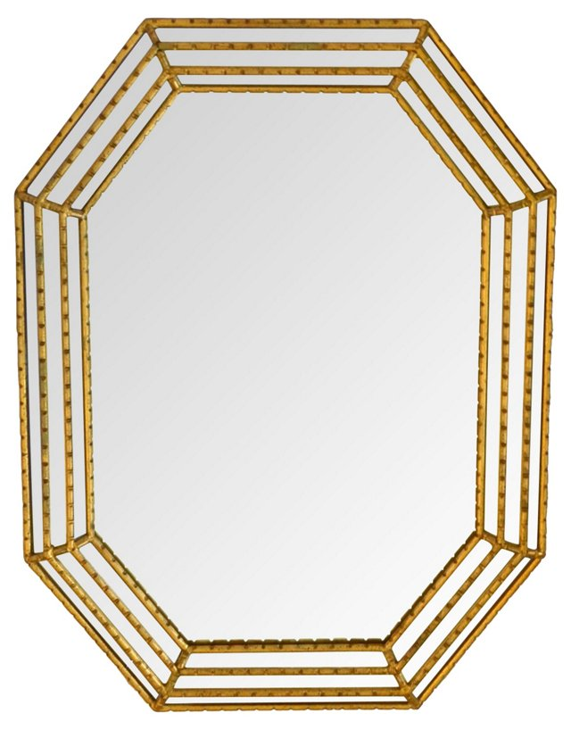 Octagonal Gilt Mirror by La Barge