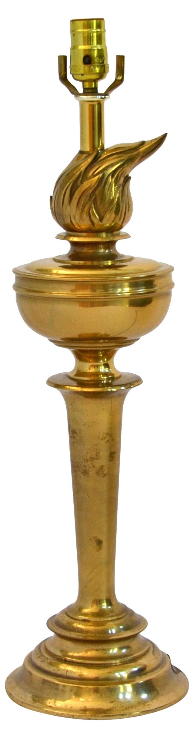 Brass Torch Lamp