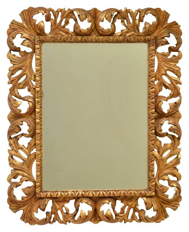 Italian Baroque Giltwood Mirror
